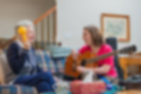 Music Therapist with Older Adult