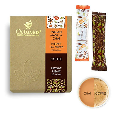 Octavius - Instant Masala Chai + Instant Coffee 50 sachets