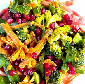 Mix vegetables fry with Ghee, Miso and peanut butter