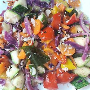 Coconut flavor Mix hot salad marinated with vinegar