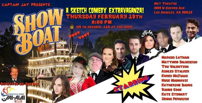 Jai-Alai Sketch Comedy SHOW BOAT!!
