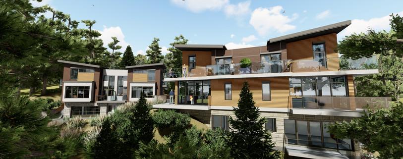 West Elevation View Facing Westport Road - Duplex 1 & 2