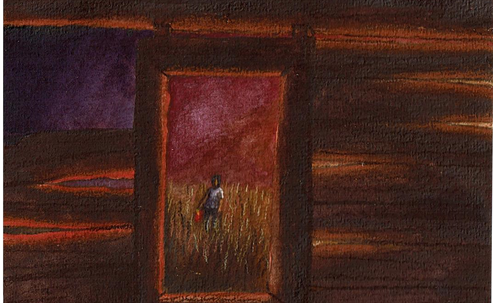 Ghost Dance Shack View Illustration