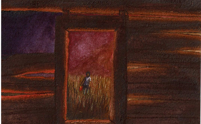 Ghost Dance Shack View Illustration Azby