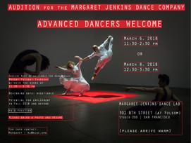 MARGARET JENKINS DANCE COMPANY AUDITIONS