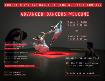 MARGARET JENKINS DANCE COMPANY AUDITIONS