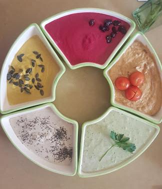 טחינה בחמישה צבעים