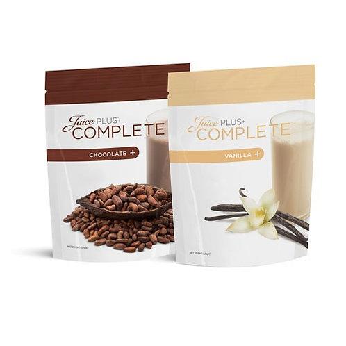 אבקה להכנת משקה על בסיס חלבון צמחי בטעם שוקולד ווניל COMPLETE