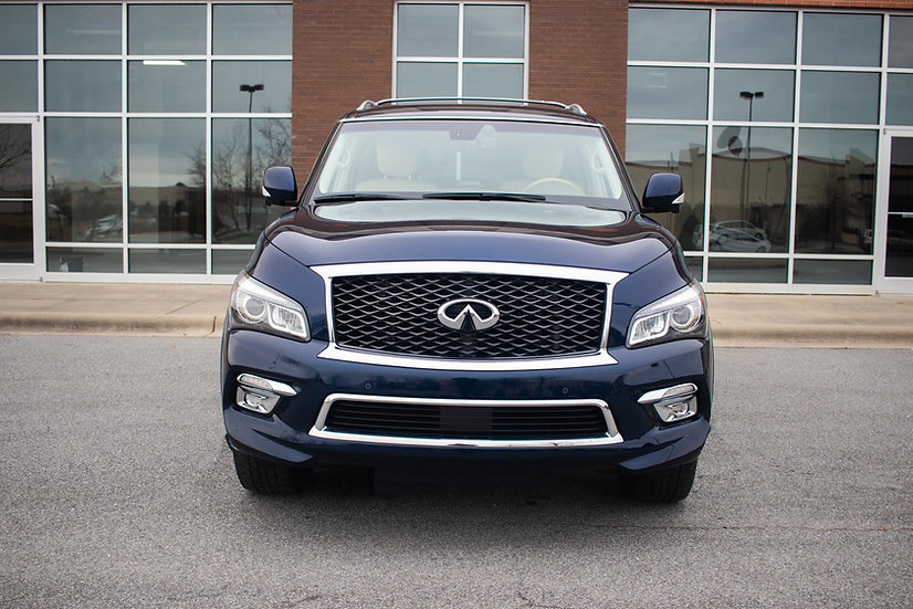 blue, 2016, Infiniti, QX, 80, Car, Luxury, Bolden, Limited, Greenville, NC, Used, New