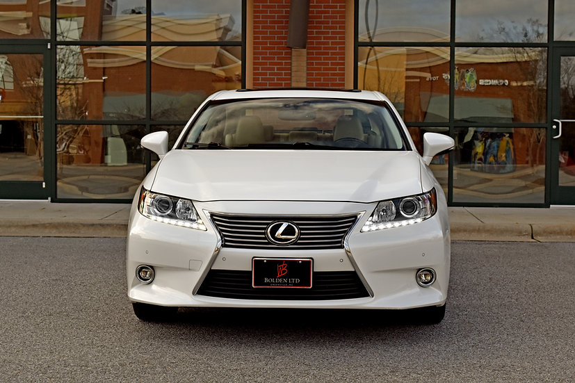 Greenville, NC, Bolden, LTD, Luxury, Lexus, 2014, ES, 350, White, Pearl, Navigation, Tan, Leather, Heated and Cooled Seats