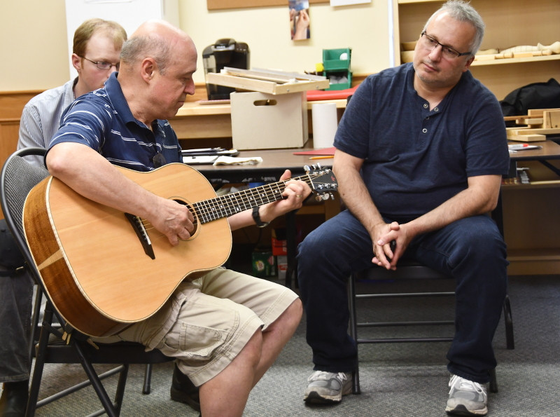 Dan Thrasher Plays a Red Maple Acoustic