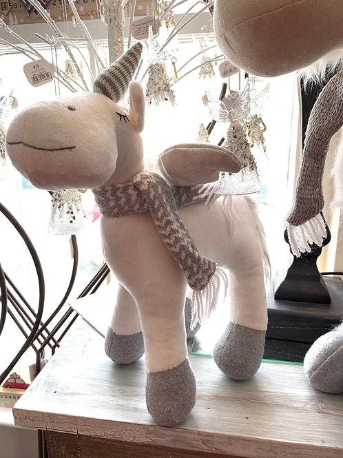 Plush ornamental Christmas Unicorn