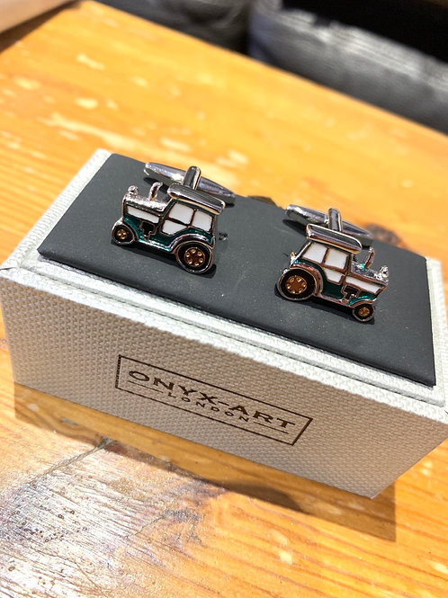 Onyx-Art Cufflinks - Tractor