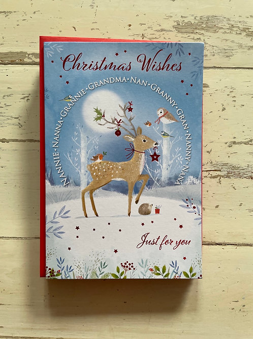 Christmas Wishes Nan, Gandma, Nanny