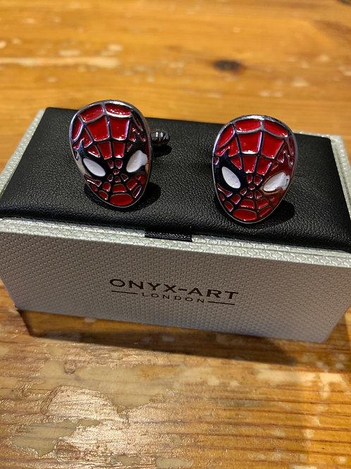 Onyx-Art Cufflinks -Spider-Man head