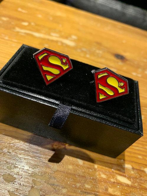Onyx-Art Cufflinks -Superman Logo