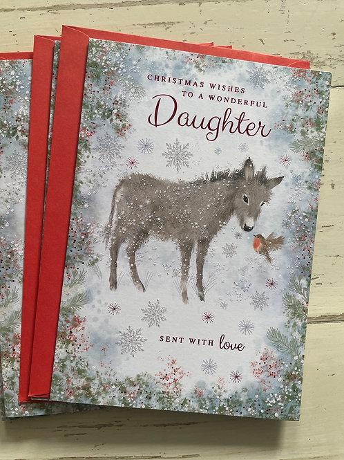 Daughter at Christmas