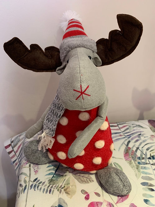 Moose Weighted Bottom Christmas ornament