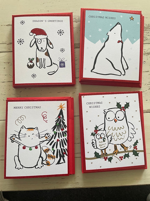 Doodle Christmas cards