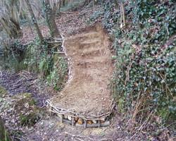Escalier parcours de pêche