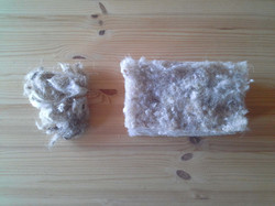 lana de oveja en mantel