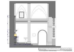 Sección long. (lateral retablo).
