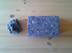 fibras de algodón reciclado