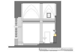 Sección long. (centro retablo)