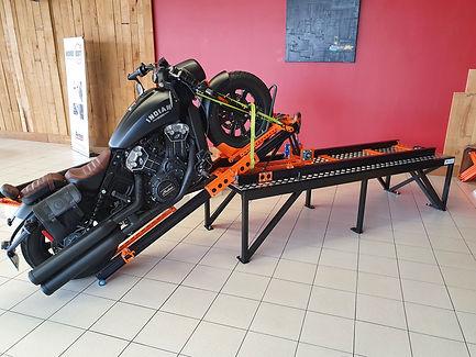rampe de chargement moto