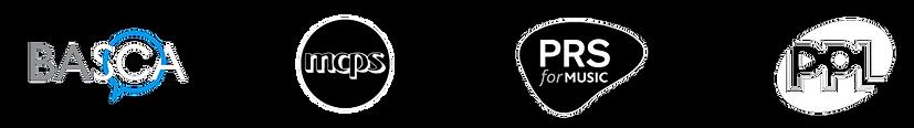 PRS, BASCA, MCPS and PPL Logos