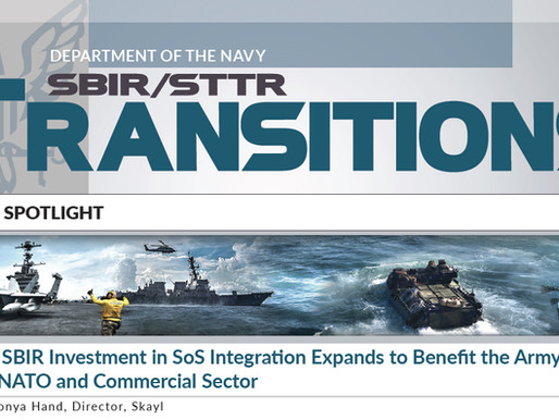 Navy's SBIR Investment in SoS Integration Expands to Benefit Army, AirForce, NATO & Commercial