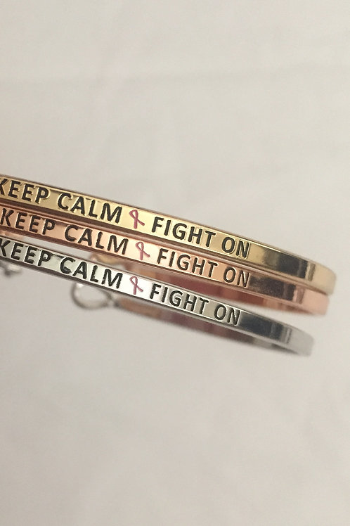 Keep Calm Fight On Bracelet