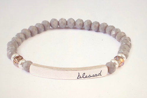 Blessed Bead Bracelet-Grey