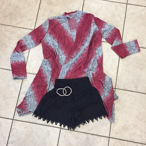 Pink and Grey Cardigan