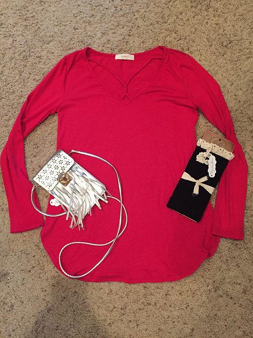 Red Long Sleeve Shirt