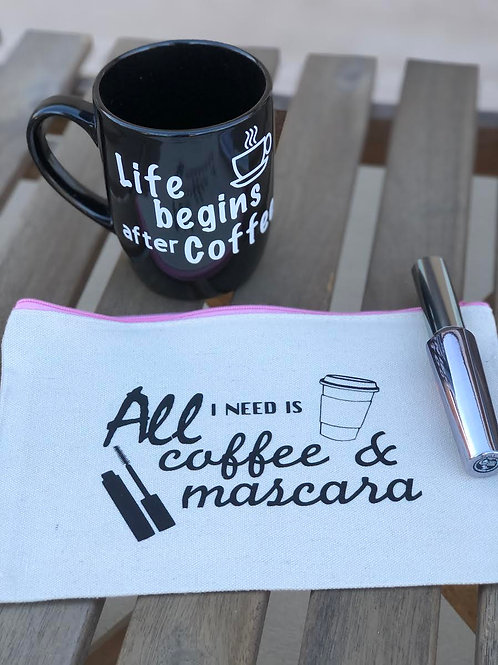 All I Need is Coffee & Mascara-Pink