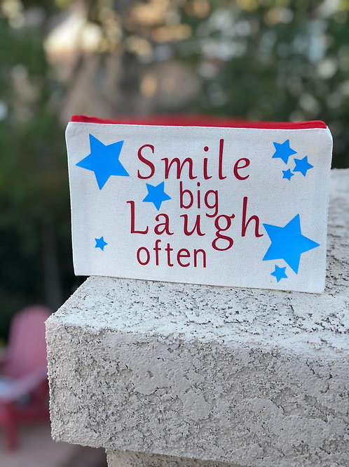 Smile Big Laugh Often-Red