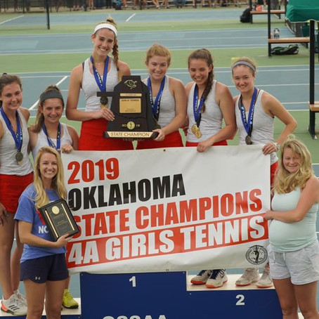 2019 Oklahoma 4A Girls Tennis Champs