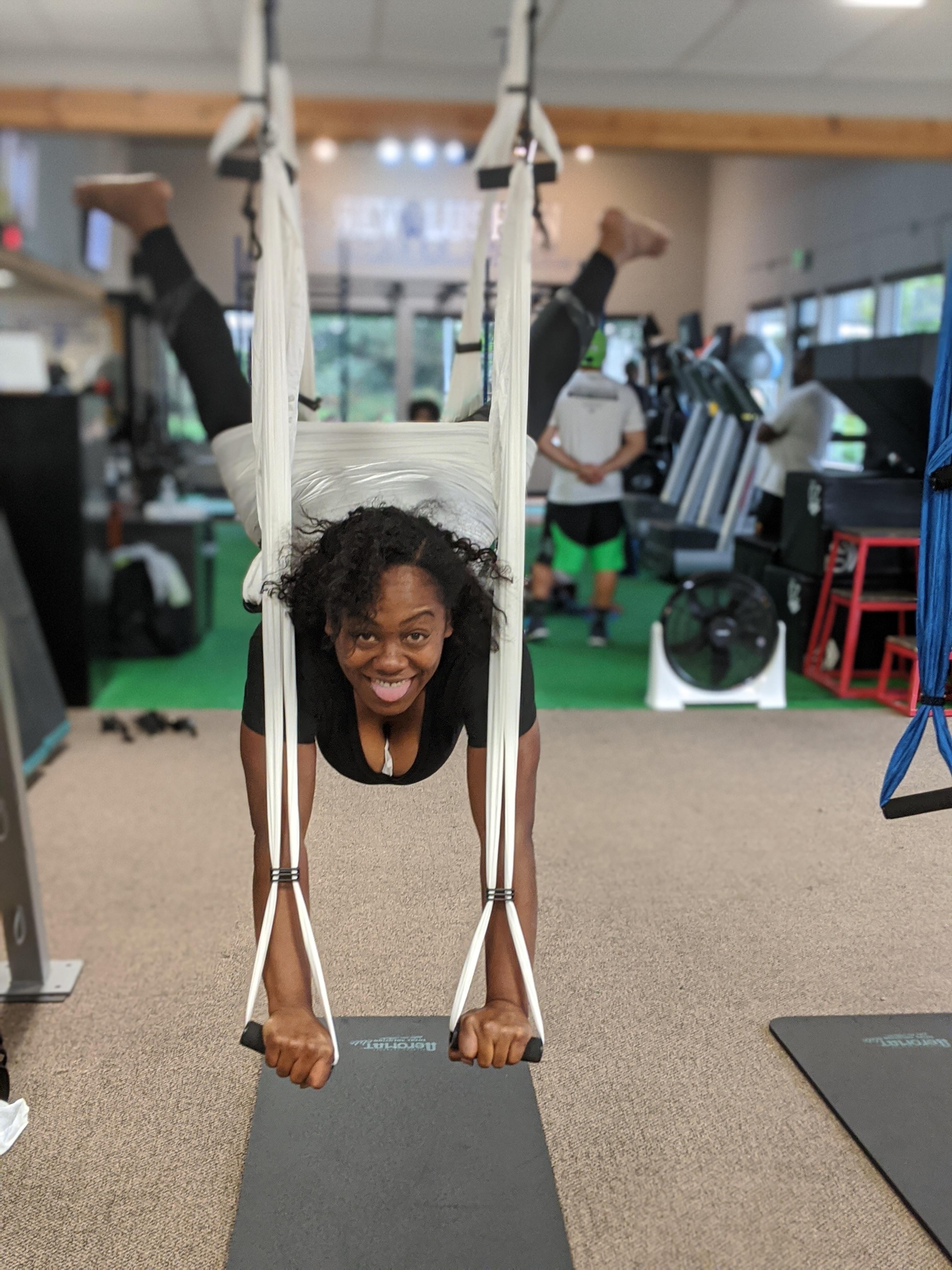 Yoga Trapeze.