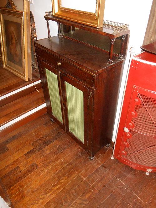 Credenzino Regency in palissandro con filettature in ottone