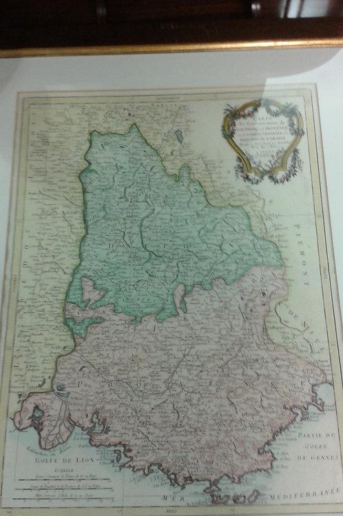 Carta geografica Delfinato e Provenza