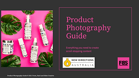 Product photography guide for New Directions