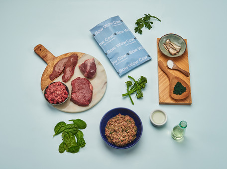 Styled product photography pet food