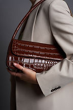 Photography of handbag accessory with model
