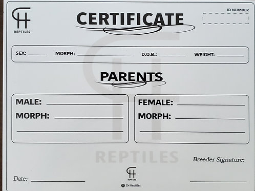 Clutch Certificate