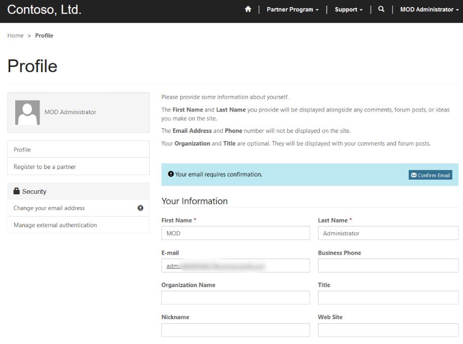 Dynamics 365 Portal Confirm Email Error - Microsoft Dynamics