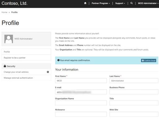 Dynamics 365 Portal Confirm Email Error
