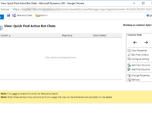 Dynamics 365 Customer Engagement Relevance Search