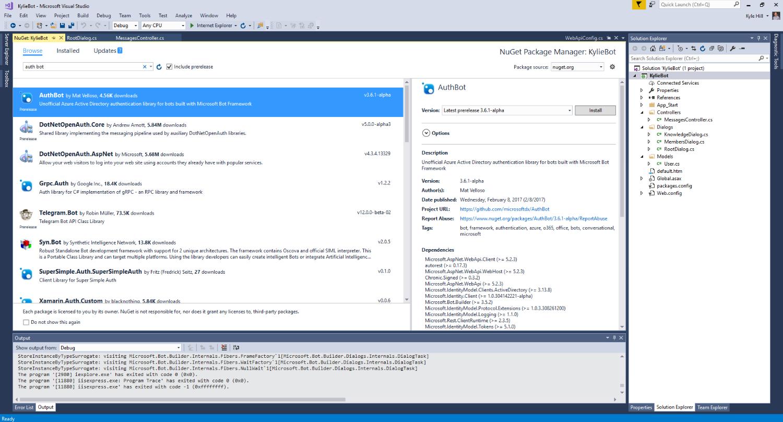 Kylie Bot Part 2 - Adding Authentication - Microsoft Dynamics 365