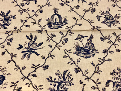Toile meets chinoiserie
